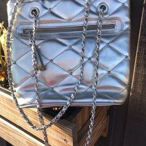 Y & S Shoulder Bag w/ Hard Knot Metal Strap